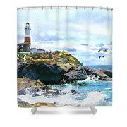 Montauk Point Light Shower Curtain