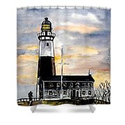 Montauk Point Lighthouse Shower Curtain