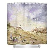 Montauk Sand Dune Shower Curtain
