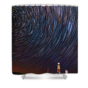 Montauk Star Trails Shower Curtain