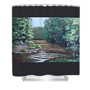 Montauk State Park In Missouri, Oil Shower Curtain