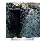 Monte Alban Danzantes Stone Shower Curtain