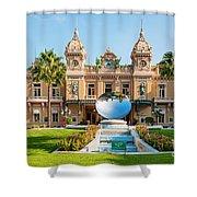 Monte Carlo Casino And Sky Mirror In Monaco Shower Curtain
