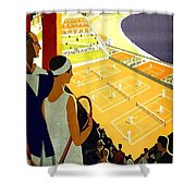 Monte Carlo, French Riviera, Tennis Club Shower Curtain