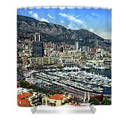 Monte Carlo Harbor View Shower Curtain