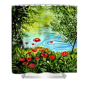 Monte Rio Poppies Shower Curtain