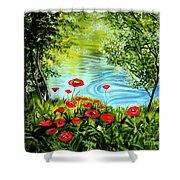 Monte Rio Poppies Shower Curtain