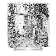 Montefioralle Tuscany Shower Curtain