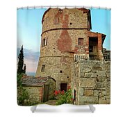 Montefollonico Stone Tower And Fortress Shower Curtain