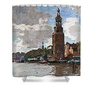 'montelbaanstoren' In Amsterdam By Cornelis Vreedenburgh Dutch 1880-1946 Shower Curtain