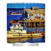 Monterey Bay Fishing Boat Shower Curtain