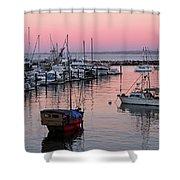 Monterey Bay Harbor Shower Curtain