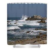 Monterey Coastline Shower Curtain