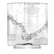Monterey Harbor California 1852 Shower Curtain