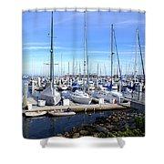 Monterey Harbor California Shower Curtain