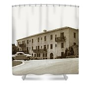 Monterey Hospital Was Built In 1930 At 576 Hartnell St, Monterey Shower Curtain