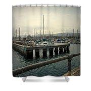 Monterey Marina Shower Curtain