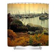 Monterey Marina Vista Shower Curtain