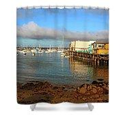 Monterey Wharf Shower Curtain