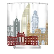 Montevideo Skyline Poster Shower Curtain