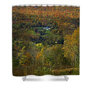 Montgomery Hillside Of Color Shower Curtain