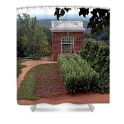 Monticello Vegetable Garden Pavilion Shower Curtain
