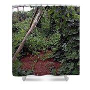 Monticello Vegetable Garden  Tee Pee Shower Curtain