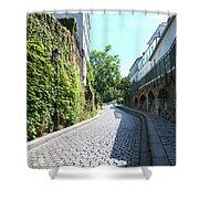 Montmarte Paris Cobblestone Streets Shower Curtain