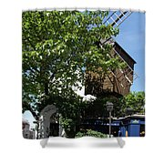 Montmarte Paris Windmill Shower Curtain