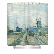 Montmartre   Mills And Vegetable Gardens, Paris Shower Curtain