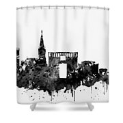 Montpellier Skyline-black Shower Curtain
