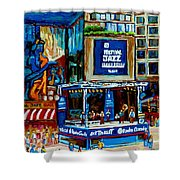 Montreal City Paintings By Streetscene Specialist Carole Spandau  Over 500 Prints Available Shower Curtain