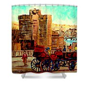 Montreal City View Shower Curtain