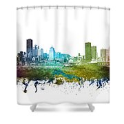 Montreal Cityscape 01 Shower Curtain