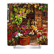 Montreal Cityscenes Homes And Gardens Shower Curtain