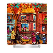 Montreal Early Autumn Shower Curtain by Carole Spandau