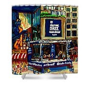 Montreal Jazz Festival Arcade Shower Curtain