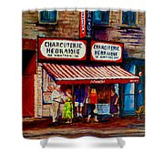 Montreal Paintings  Available For Fundraisers By Streetscene  Artist Carole Spandau  Shower Curtain