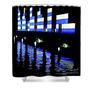 Montreal Port Night Shower Curtain