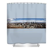 Montreal Seen From Above Shower Curtain