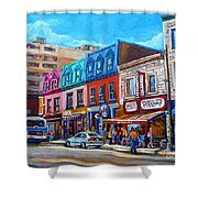 Montreal Smoked Meat Schwatrzs Deli Shower Curtain