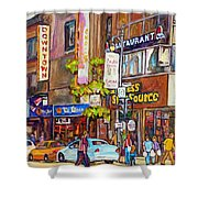 Montreal St.catherine Street Corner Peel Shower Curtain