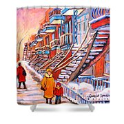 Montreal Winter Walk Shower Curtain