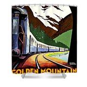 Montreux, Golden Mountain Railway, Switzerland Shower Curtain