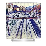 Montreux, Tracks In The City. Shower Curtain