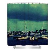 Montrose Harbor Evening Shower Curtain