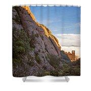 Montserrat Hike Painterly Shower Curtain