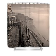 Montserrat Winter Morning Bw Shower Curtain