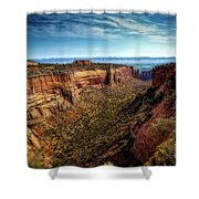 Monument Canyon And Saddlehorn Shower Curtain