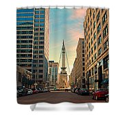 Monument Circle - Indianapolis Shower Curtain